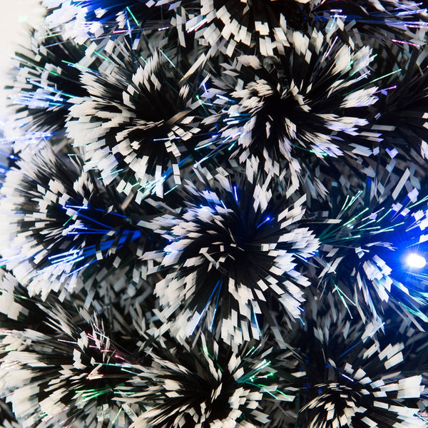 120, 180cm Christmas Tree Fibre Optic LED Light Colourful RGB Twinkle Animated Snow Tips