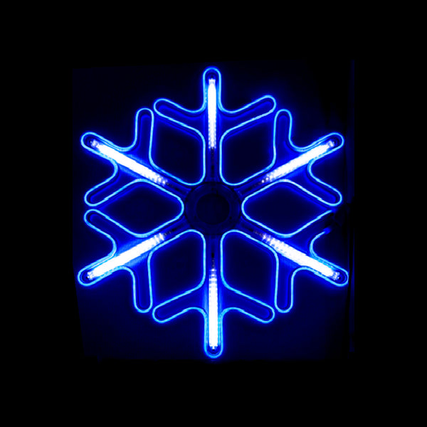 Christmas Neon LED Motif Animated Meteor Shower Snowflake 59x52cm Indoor Outdoor Display Sign