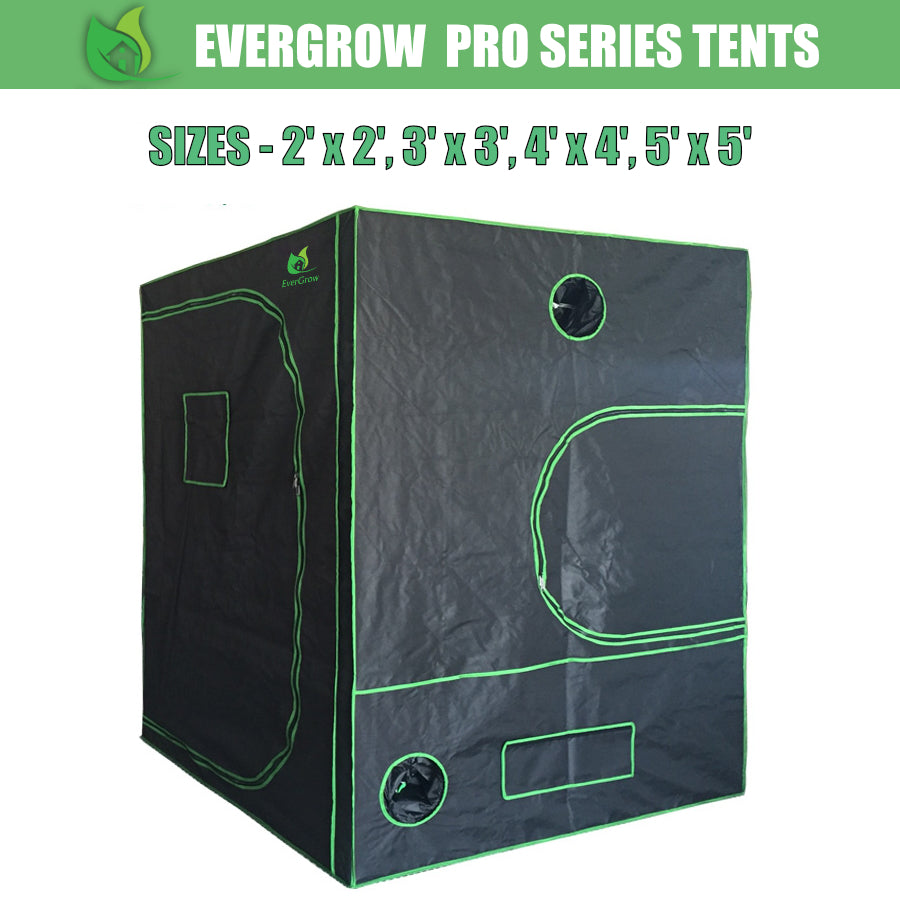 EverGrow Pro Series Hydroponics Grow Tent 2x2, 3x3, 4x4, 5x5 FT (Tent Only)