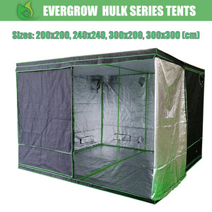 EverGrow Hulk Series Hydroponics Grow Tent 200x200, 240x240, 300x200, 300x300 cm (Tent Only)
