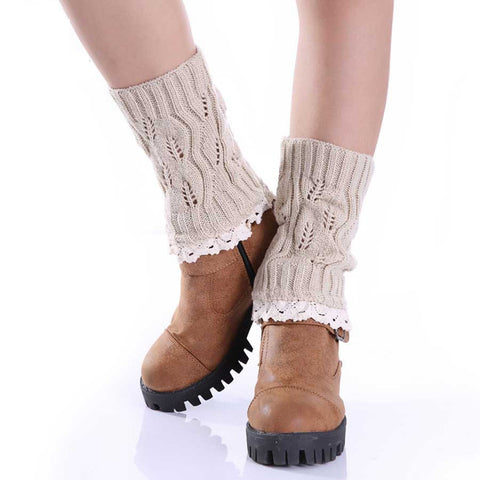 The Jeanella Boot Cuff with Lace Trim 9 Colors