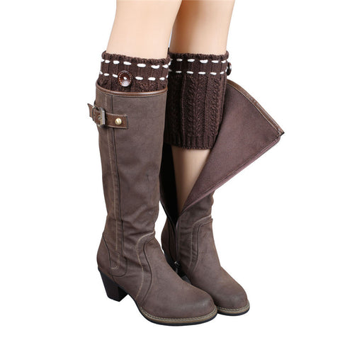Cute as a Button Knitted Boot Cuff
