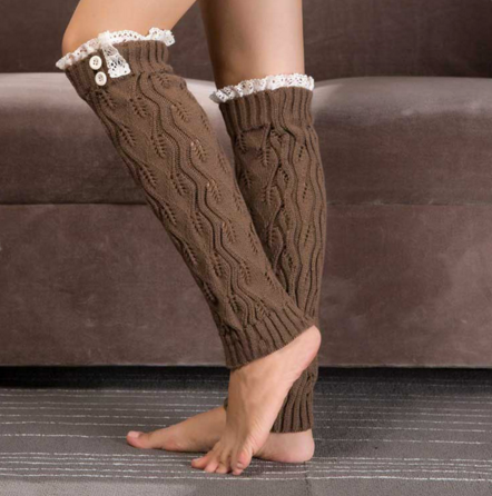 The Sasha Lace Topper Knit Boot Cuff Leg Warmer