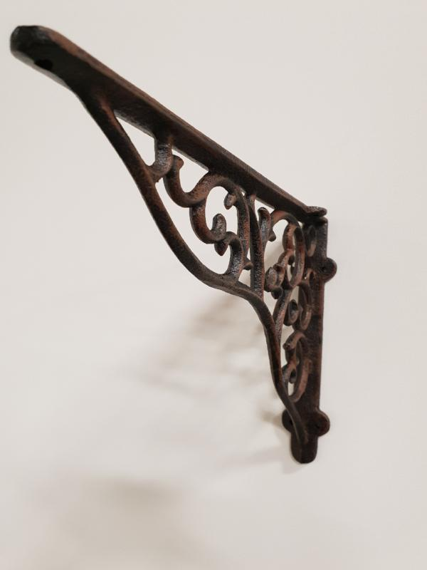 Detailed cast iron shelf bracket