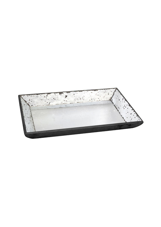 mirror glass tray