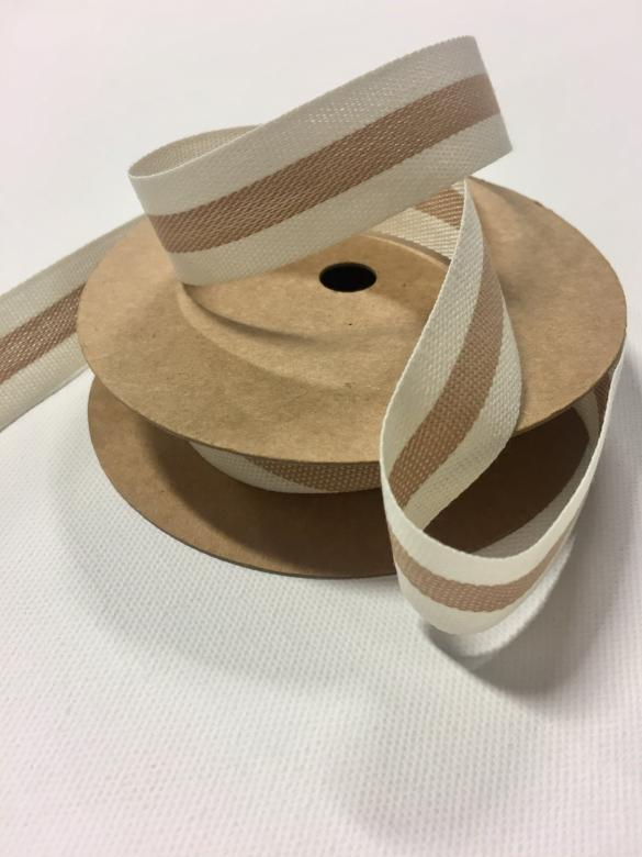 French Beige Stripe Ribbon