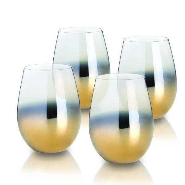 Cariso Gold stemless glasses set of 4