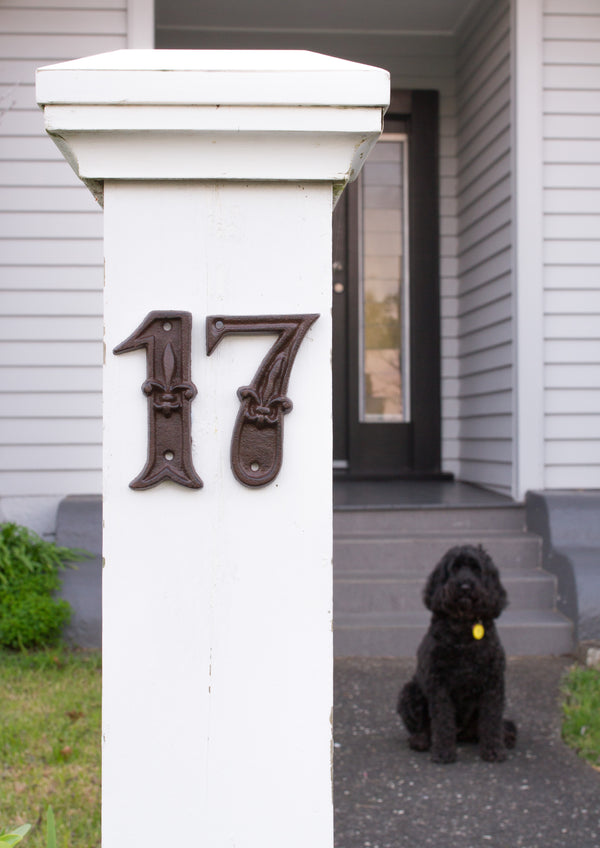 Cast Iron House Numbers & Letters