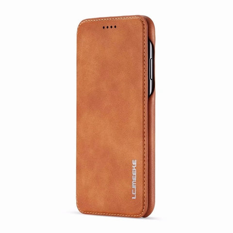 LC.IMEEKE Flip Case For iphone 11 Pro Max / x / xs / max / xr / 6 / 6s / 7 / 8 plus - Leather Phone Coque Cover