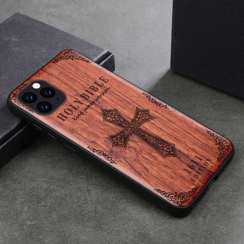 BOOGIC Phone Case For iPhone 11 & iPhone11 Pro - Original Wood TPU Case