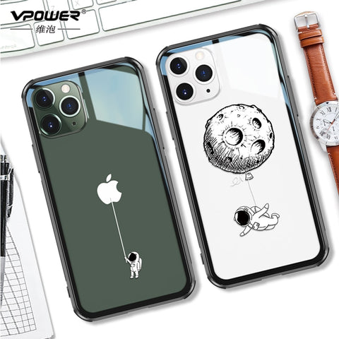 Vpower Tempered Glass Case For iPhone 11, 11 Pro, 11 Max