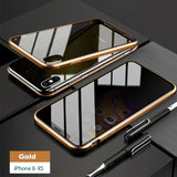 Privacy Tempered Glass Magnetic/ Anti-peeping Magnet Metal Bumper Case