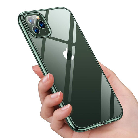 Ultra Slim Thin Clear Soft Premium Flexible Chrome Bumper Case
