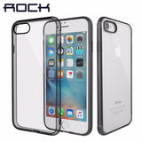 Hard Back Crystal Clear Phone case for iPhone7 hard back case with soft edge