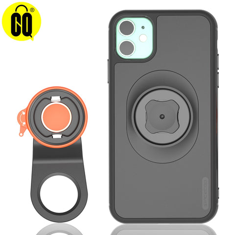 Bicycle phone holder with shockproof case for iPhone 11/Pro/Max, X/Xs/Max, XR, 8, 7/7s