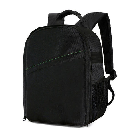 Black Colored Camera Backpack Durable Waterproof Camera Bag 600D Nylon Material hree Coloraterproof Camera Bag 600D Nylon Material