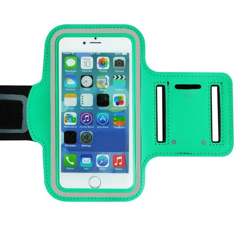 Green Colored Armband Belt Cover Phone Cases for iPhone 7/6/6s
