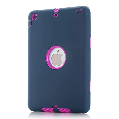 Heavy Duty Silicone Hard Case Cover Screen Protector Film with Stylus Pen For iPad mini 1/2/3