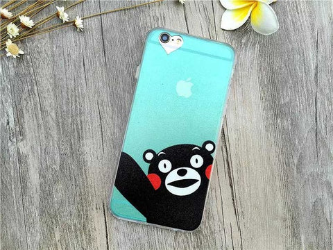 Cute phone case fashion luxury ultra-thin funny cat dog back covers for iPhone units