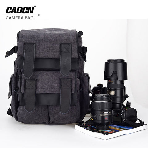 CADeN Waterproof Canvas Camera Bag M5 Backpack