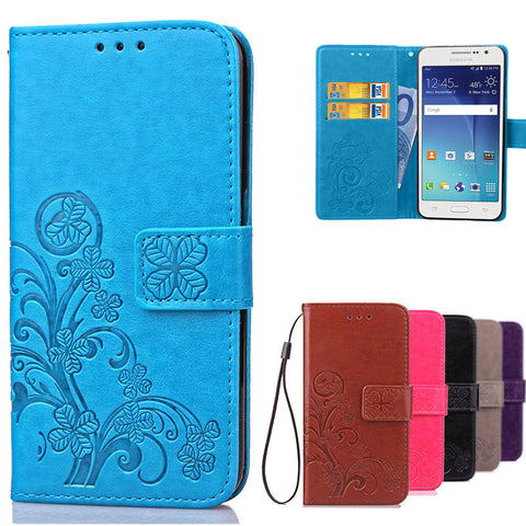 Luxury For Coque Samsung Galaxy Grand Prime Case Wallet Flip Cover