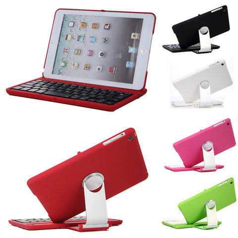 "360° Swivel Aluminum Rotating Wireless Bluetooth Keyboard Cover Case for iPad Mini 1/ 2/ 3 (7.9""inch)"