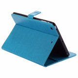 Embossed Leather Stand Case with Auto Wake/Sleep Smart Cover for iPad Mini