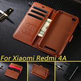 Case For Xiaomi Redmi 4A Luxury Wallet PU Leather Case Stand Flip Card Hold