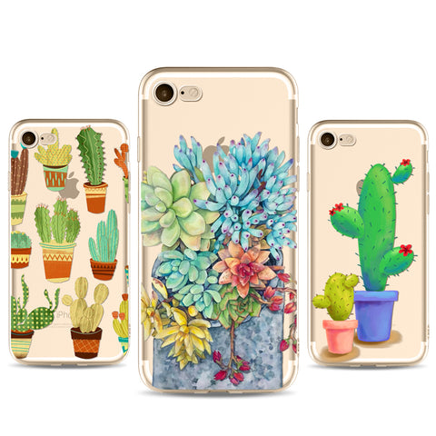 Fashion Green Plants phone Cases For Iphone