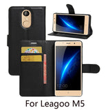 Wallet Style PU Leather Case For Leagoo M5 With Stand Function & Card Holder