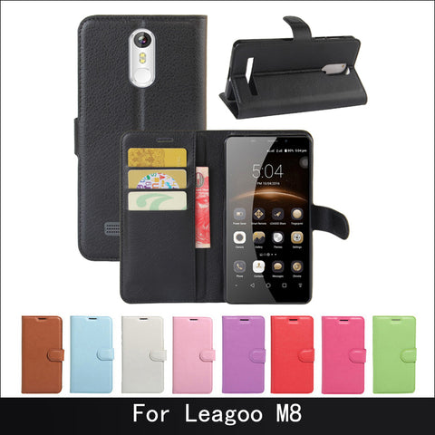 Luxury phone protective flip cover case for Leagoo M8 pro