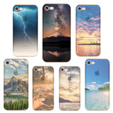 Mountain City Tower Scenery Phone Case for iphone
