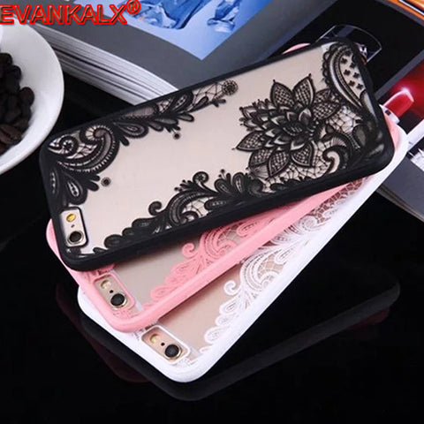 Sexy Lace Flower Design Cover Case for iPhone Unit