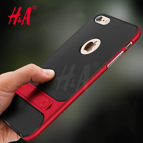 Red Colored 360° Multi-Layer Protective Cover Case For Iphone 6/6s/7/7 Plus