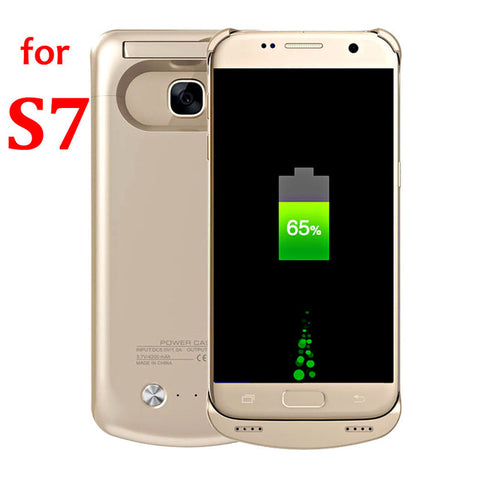Battery Case Power Bank Slim Charge Cover S 7 Edge