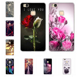 3D Relief Printing Silicone Back Cover Case for Huawei P9 Lite