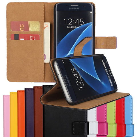 Leather Wallet Cover Case For Samsung