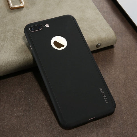 Case Cover with Screen Protector Full Protect Case For iPhone 7 7 Plus