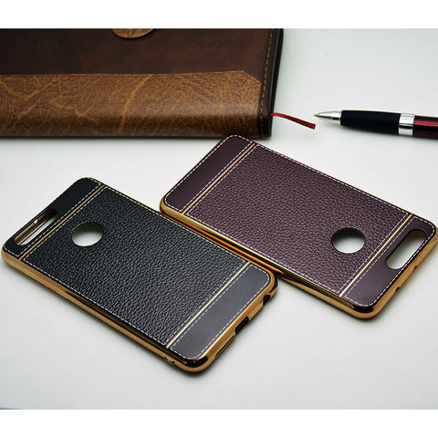 Retro Leather Pattern Silicone Case for Huawei P9
