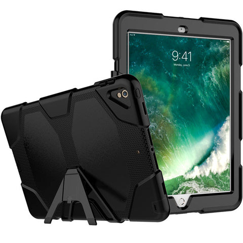 "Black Colored Armor Shockproof Hybrid Cover Case with Stand for iPad Pro 10.5"" inch"