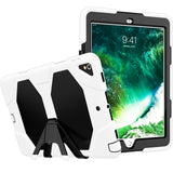 "White Colored Armor Shockproof Hybrid Cover Case with Stand for iPad Pro 10.5"" inch"