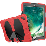 "Red Colored Armor Shockproof Hybrid Cover Case with Stand for iPad Pro 10.5"" inch"