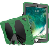 "Green Colored Armor Shockproof Hybrid Cover Case with Stand for iPad Pro 10.5"" inch"