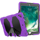 "Purple  Colored Armor Shockproof Hybrid Cover Case with Stand for iPad Pro 10.5"" inch"