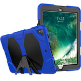 "Dark Blue Colored Armor Shockproof Hybrid Cover Case with Stand for iPad Pro 10.5"" inch"