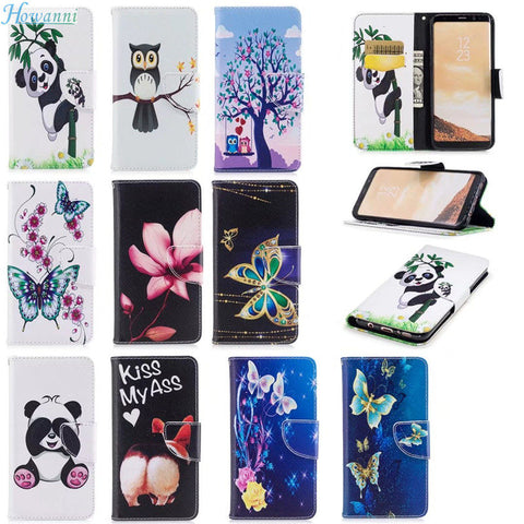COLORFUL FLIP LEATHER WALLET PHONE CASE COVER FOR SAMSUNG GALAXY S8 PLUS