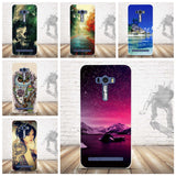 ULTRA-THIN LUXURY PAINTING SOFT TPU BACK COVER CASE FOR ASUS ZENFONE SELFIE ZD551KL