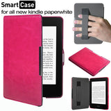 Hand strap leather case with magnetic cover for Amazon Kindle Paperwhite 1/2/3
