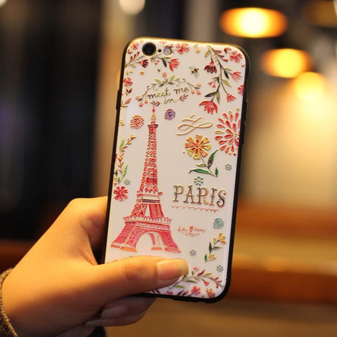 Cute Cartoon 3D Relief Case for iPhone 8 Plus / X / 6 / 6S  Plus / 6S / 7 Plus