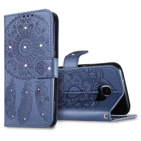 Flip Leather Campanula Cover For iPhone